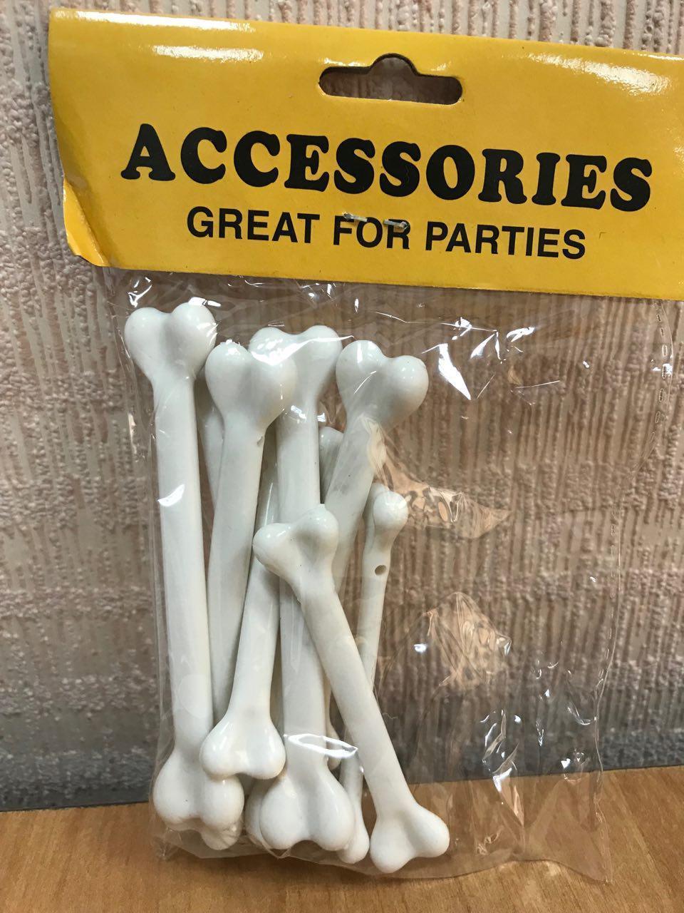 Кости на Хэллоуин 10 штук (7 см)