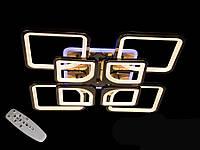 Люстра светодиодная с диммером и LED подсветкой, цвет чёрный хром, 190W, фото 1