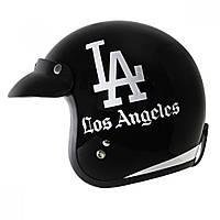 "Глянцевый открытый мотошлем для скутера Outlaw  X-401 ""Лос-Анджелес"", фото 1"