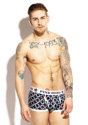 Мужские трусы -боксеры  PINK HERO   мини - шорты- боксерки ХЛОПОК / чоловічі труси боксери, фото 2