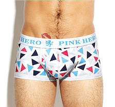 Мужские трусы -боксеры  PINK HERO   мини - шорты- боксерки ХЛОПОК / чоловічі труси боксери, фото 3