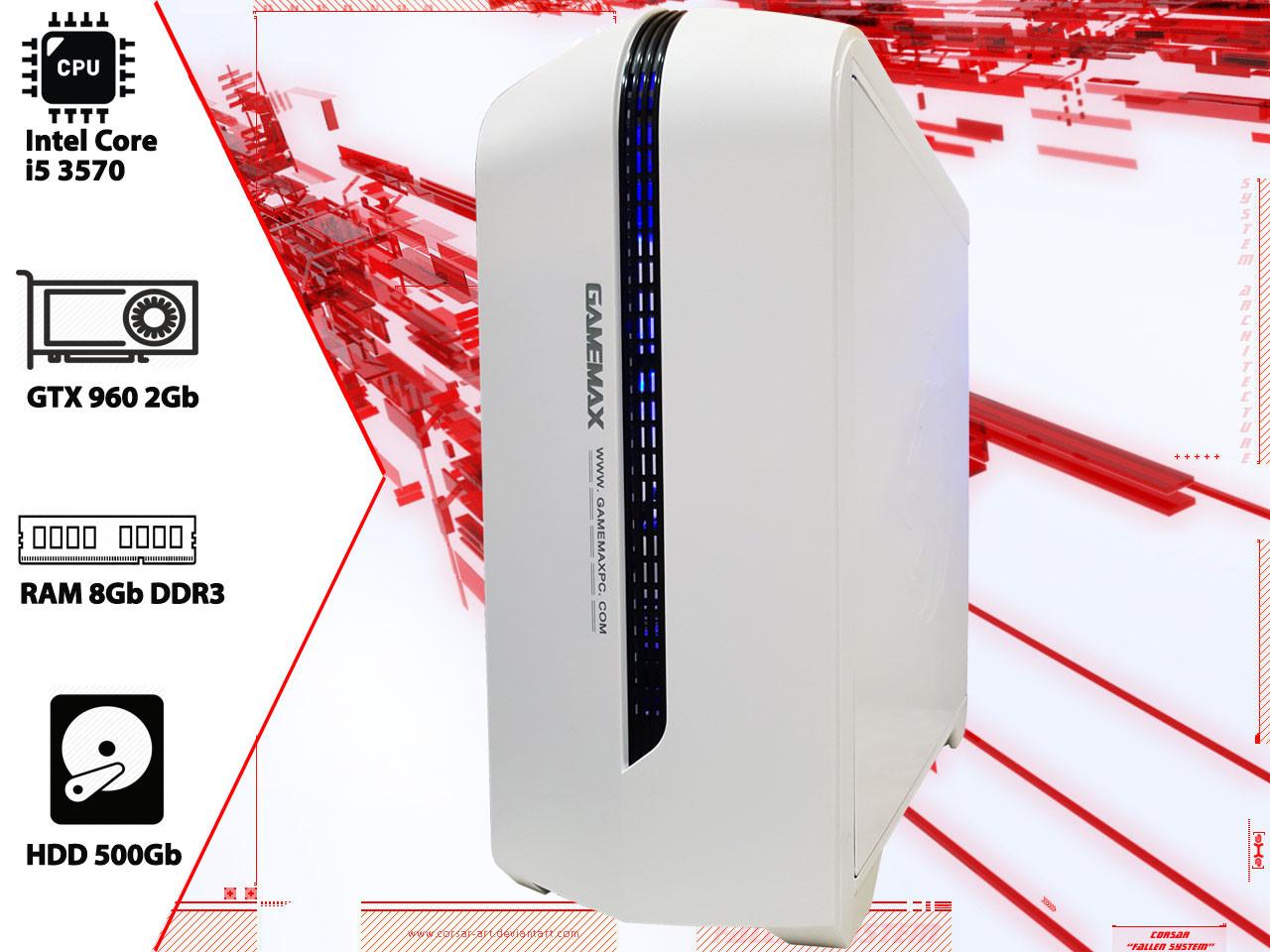 Игровой ПК Intel Core i5 3570, GTX 960, DDR3 8Gb, 500Gb