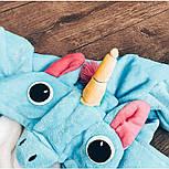 (110, 120, 130-нет, 140-нет см) Детский кигуруми голубой единорог v136, фото 2