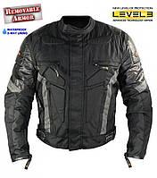 Мужская Текстильная мотокуртка Xelement CF-5075 из кордуры со съёмной  защитой , фото 1