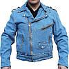 Мужская джинсовая куртка косуха фирмы Allstate (США)
