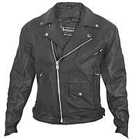Мужская кожаная куртка косуха Xelement  BXU-10580 черного цвета , фото 1