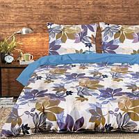 Двуспальный постельный комплект ТЕП 992 «Листочки»   Бязь, фото 1