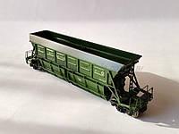 Специализированый вагон хоппер  для перевозка торфа модели 22-473, H0, 1/87, фото 1