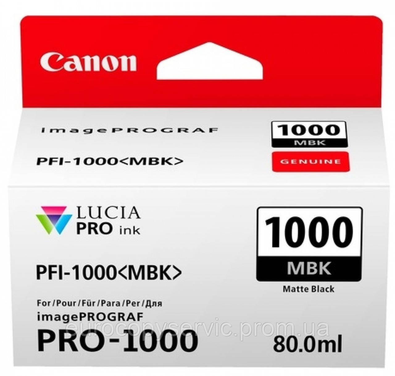 Картридж Canon PFI-1000MBk Matte black (0545C001) Original