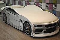"""Дитяче ліжко машина з матрацом """"BMW"""" біла, фото 1"""