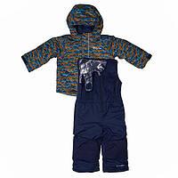 Зимний комплект для мальчика Buga Columbia куртка и полукомбинезон 1562211-708 голубой с синим  6-7 лет