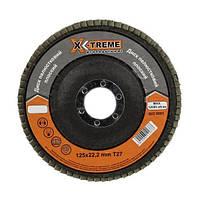Круг лепестковый плоский X-Treme (125*22,23мм, P100, Т27)
