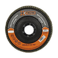 Круг лепестковый плоский X-Treme (125*22,23мм, P40, Т27)