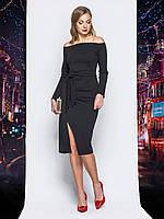Теплое вечернее платье черное 44 46 48 50