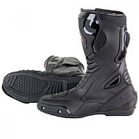Мужские кожаные кроссовые мотоботинки Vulcan черного цвета , фото 1