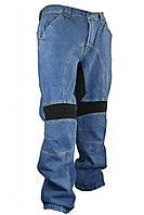 Чоловічі джинсові мотоштаны 055025 з еластичними вставками і знімною захистом, фото 1