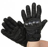 Перчатки полнопалые XG298 из яловой кожи с перфорацией и кевларовыми защитными вставками, фото 1