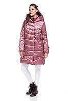 Женская зимняя куртка пуховик выше колена на морозы двойная 42-54 большие размеры