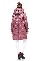 Женская зимняя куртка пуховик выше колена на морозы двойная 42-54 большие размеры, фото 2