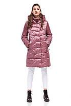 Женская зимняя куртка пуховик выше колена на морозы двойная 42-54 большие размеры, фото 3