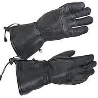 Утеплені полнопалые мотоперчатки XG-856 з оленячої шкіри для холодної погоди, фото 1