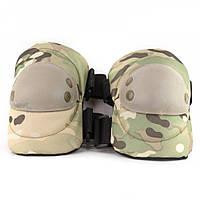 Комплект захисту тактичні наколінники і налокітники PA-10 камуфляж мультикам