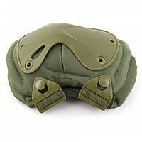 Комплект захисту тактичні наколінники і налокітники PA-4 однотонні колір олива