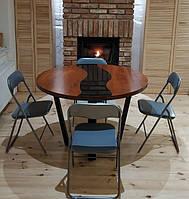 Стол для гостиной на металлических ножках в стиле лофт