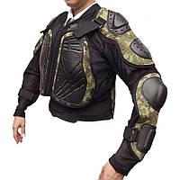 Мотозащита черепаха з захистом тулуба і рук SD-YW-078 колір хакі
