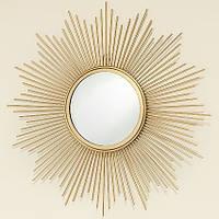Настенный декор зеркало Солнце золото d50см 1010503