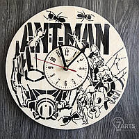 """Часы настенные из дерева """"Человек-муравей"""""""