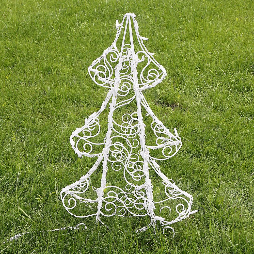 Ёлка новогодняя (полуобъемная) 90 см, гирлянда LED 100 лампочек 2211502530010