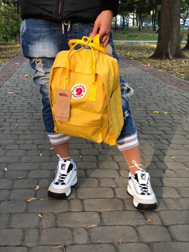 Жіночий спортивний рюкзак Kanken (жовтий)