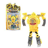 Детская игрушка часы робот трансформер Sunroz Robot Watch желтый 132439