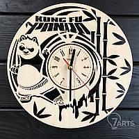 """Детские настенные деревянные часы """"Кунг-фу панда"""""""