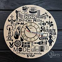 """Оригинальные настенные часы из дерева """"Depeche Mode"""""""