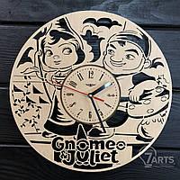 """Детские настенные деревянные часы """"Гномео и Джульетта"""""""