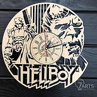 """Тематические интерьерные настенные часы """"Hellboy"""""""
