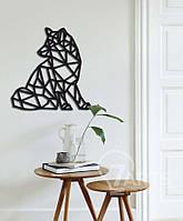 """Оригинальный декор стен геометрическое панно из дерева """"Лиса"""""""