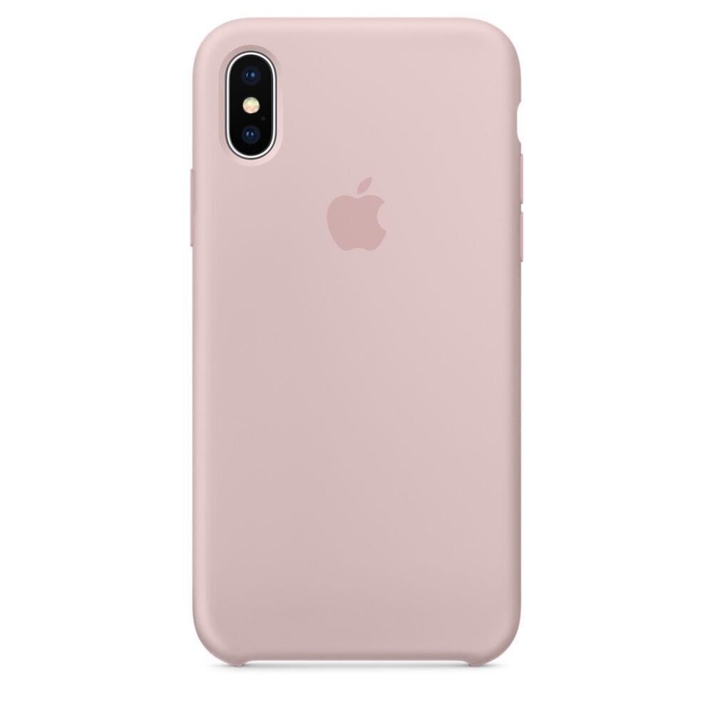 Женский чехол iPhone X / XS нежно розовый Pink Sand