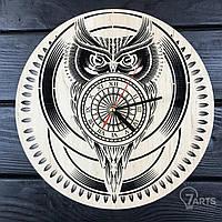 """Стильные настенные деревянные часы """"Сова"""""""