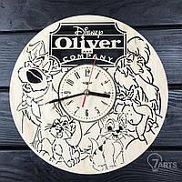 """Детские настенные часы из дерева """"Оливер и компания"""""""