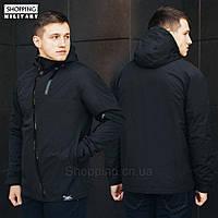 Куртка ветровка мужская черная Стафф Staff Staff HH black