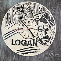 """Настенные часы из дерева в интерьер """"Логан"""""""