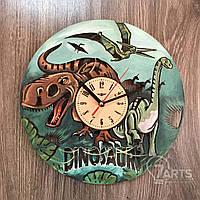 """Красивые цветные детские часы из дерева  """"Эпоха динозавров"""""""