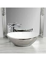 Чаша керамическая накладная SOFIA Silver White, фото 1