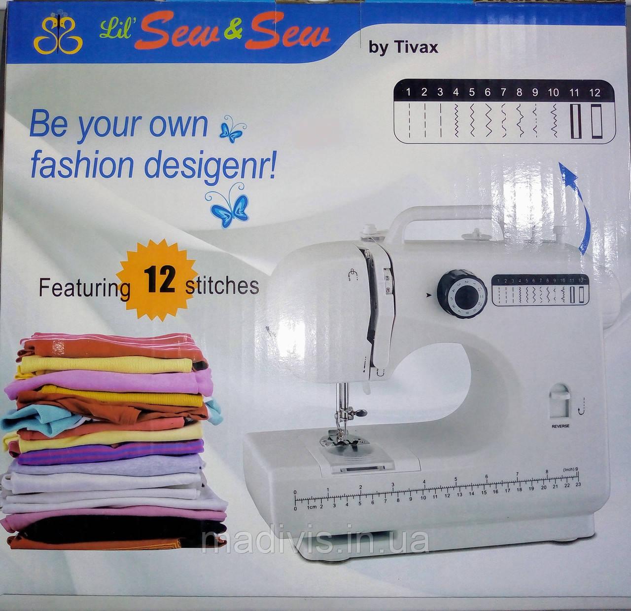 Портативная многофункциональная домашняя швейная машинка 12 В 1 FHSM-506