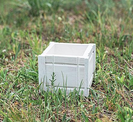 Кашпо вазон резной белый D9038