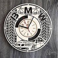 """Стильные часы из дерева настенные """"BMW"""""""