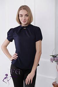 "Женская блузка ""Агата"" - распродажа модели 48, темно-синий #A/S"